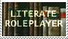 Literate Roleplayer Stamp (F2U) by wise-crack