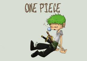 One Piece 02- Zoro by belatime