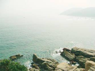 Sky Rocks Sea by Yannettee