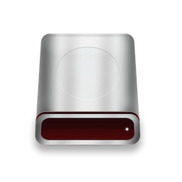 Red Silver Mac Hard Disk Icon By Focusman On Deviantart