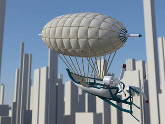 Airship2 WIP material test by pangeranberbajuputih