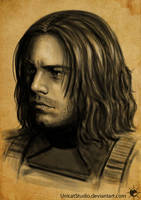 Bucky face sketch by UnicatStudio