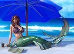 Mermaid Bridgit on the Beach (SFW Version)