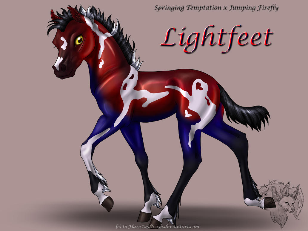 Spec x Firefly -- Lightfeet by FlareAndIcicle