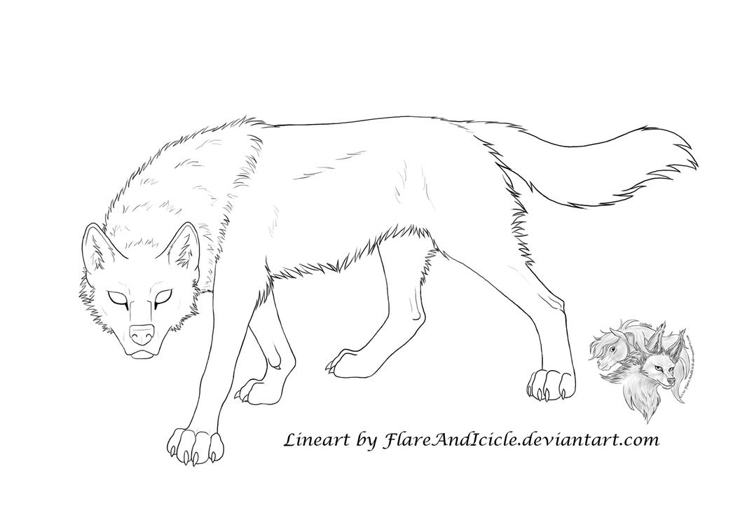 Line Art Wolf : Free wolf lineart prowl by flareandicicle on deviantart