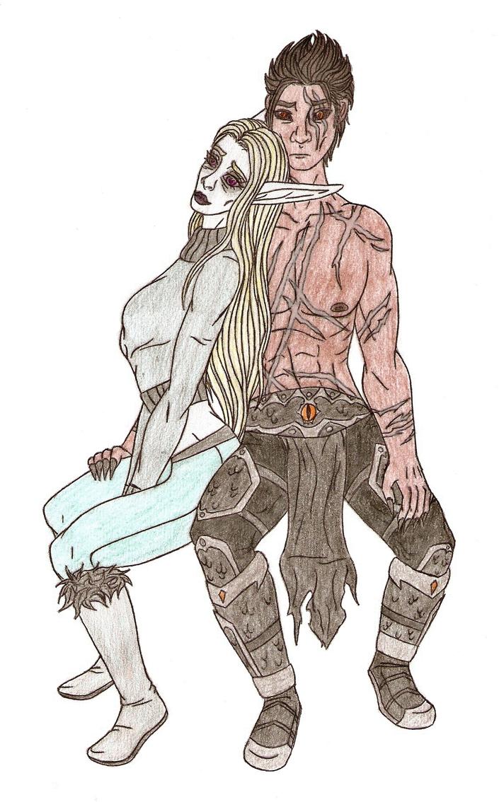 Rhiannon and Razeion - AT by Asharinhun