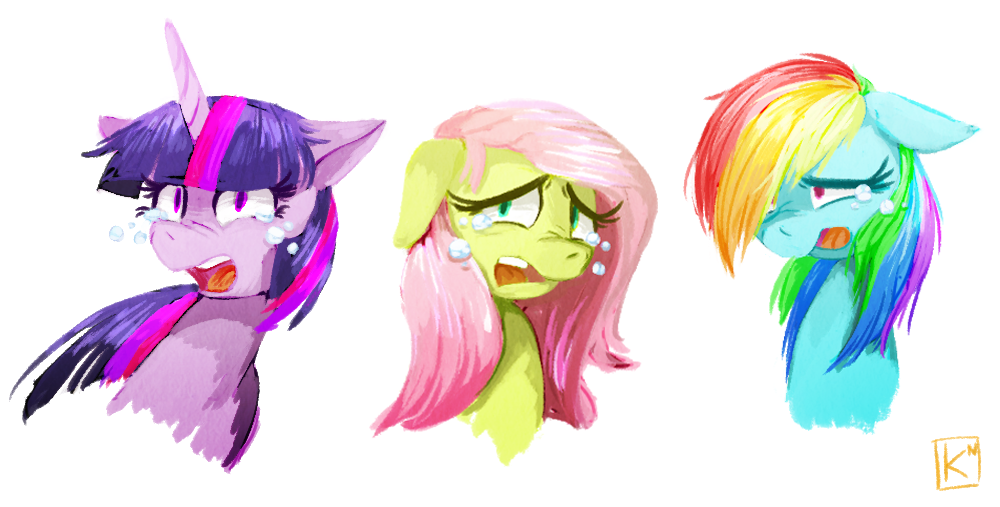 Sad ponies by Radioactive-K