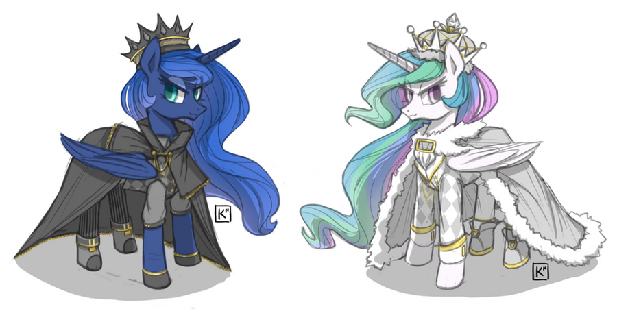 Chess Pieces: Kings by Radioactive-K