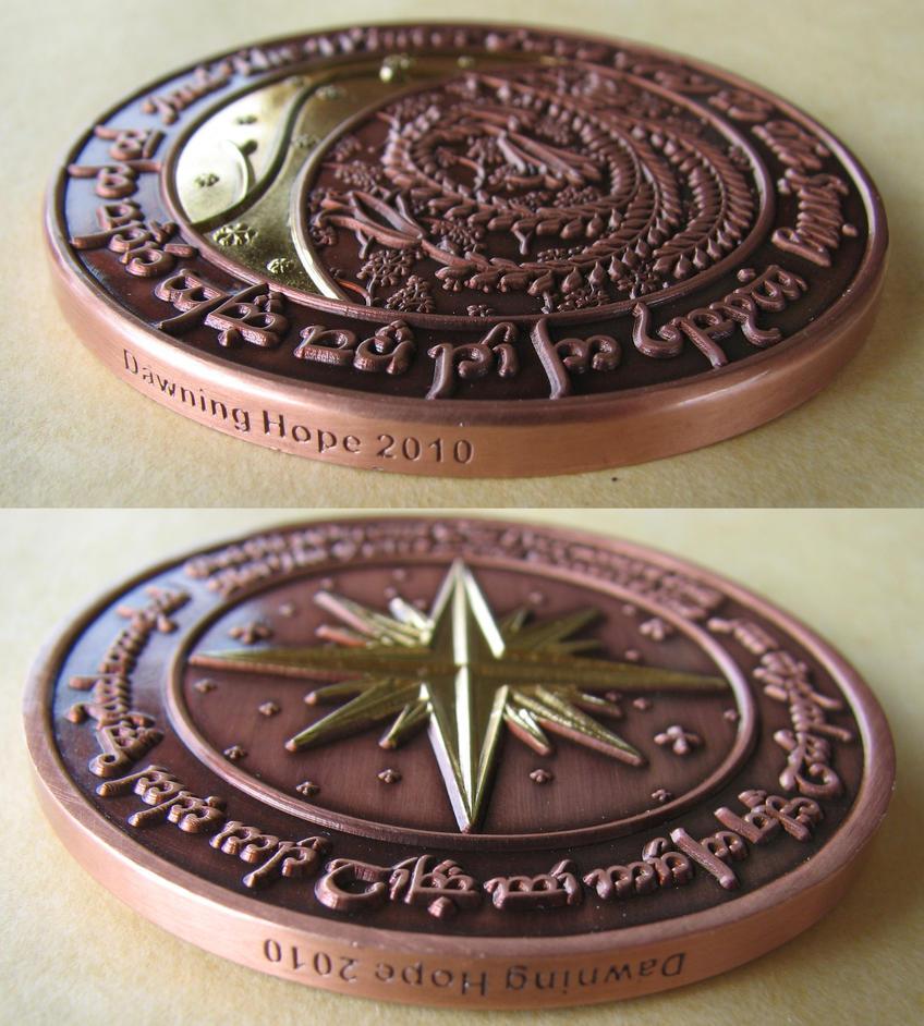 Elfish Tengwar Coin 2 by ce-e-vel