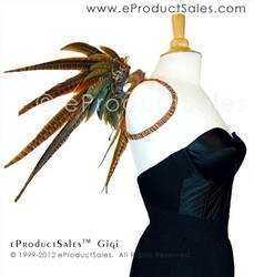 Gigi Golden Pheasant Wings-Fnt by eProductSales