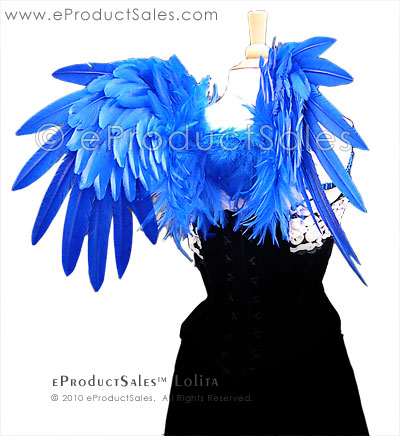 Royal Blue Lolita Angel Wings by eProductSales