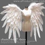 eProductSales White ORION Feather BJD Wings