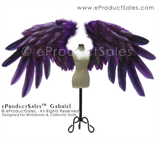 eProductSales Gabriel Purple Angel Wings BJD doll by eProductSales