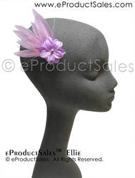 Ellie Pastel Purple Feather Hair Clip Jewelry prom by eProductSales