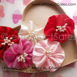 Be My Valentine Morning Glory Flowers Hair Clips
