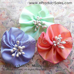 Glorious Tea Garden Flower Hair Clips Accessories by eProductSales