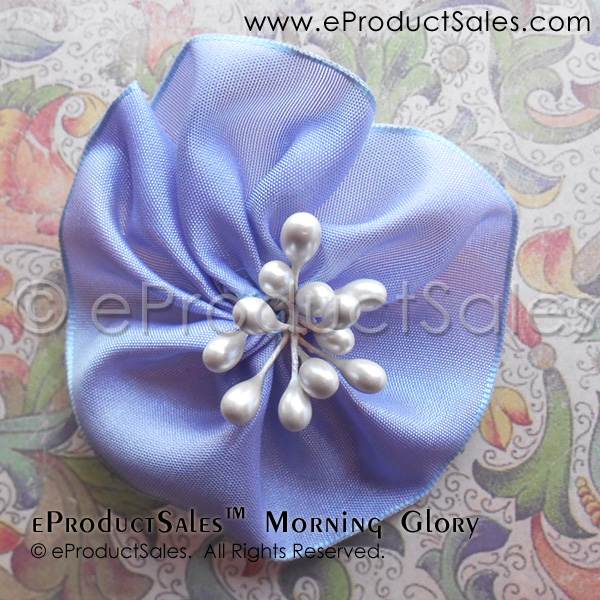 Purple Morning Glory Flower Hair Clip Accessories by eProductSales
