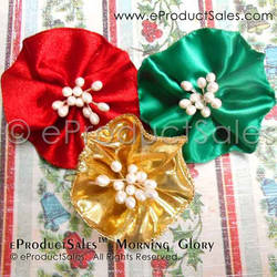 Christmas Gold Morning Glory Wearable Hair Clips