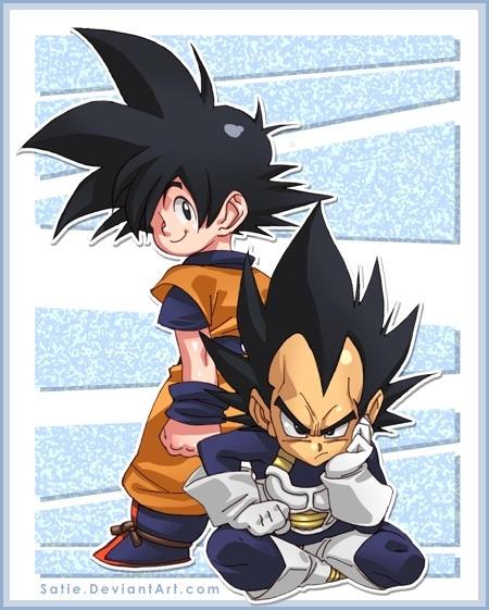 Goku and Bejita - Dragon Ball by satie