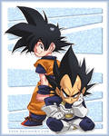 Goku and Bejita - Dragon Ball