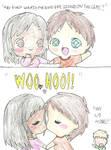 We kissed!!