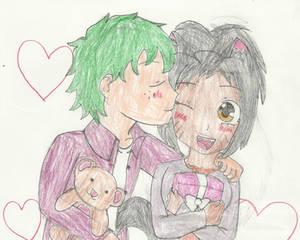 Izuku and Trinity-Birthday and Valentine love