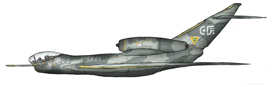 Old jet-powered fighter by Waffle0708