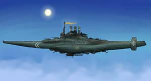 Aerial battleship by AoiWaffle0608