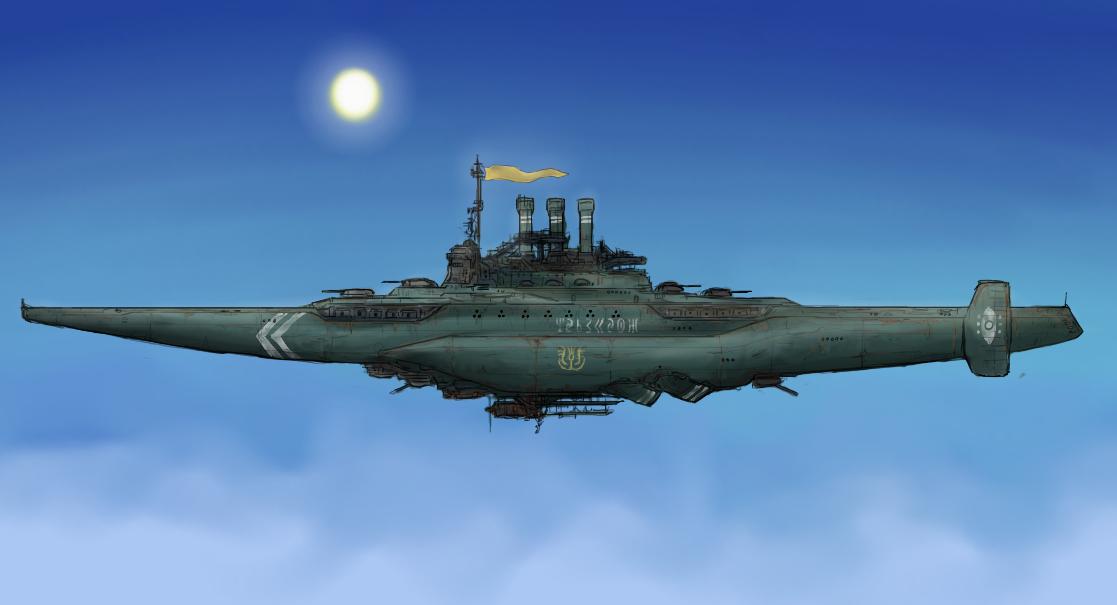 Aerial battleship by Waffle0708