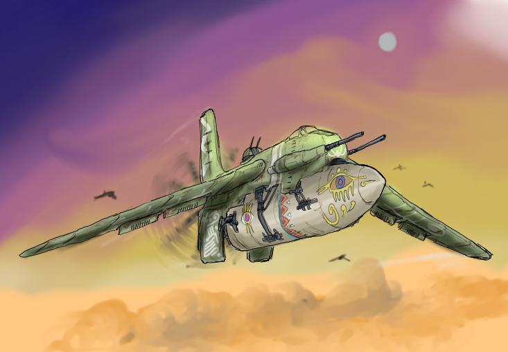 Federation Air force's Heavy Fighter Steelmarda by Waffle0708