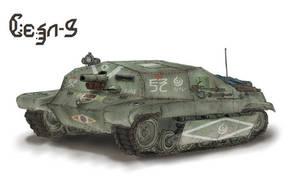 Federation army armored artillery Deva-III by AoiWaffle0608