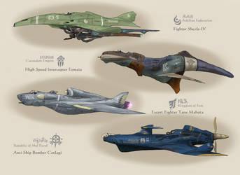 Bravery 4 war birds by AoiWaffle0608
