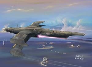 Kingdom of Fow's aerial destroyer Vizelve