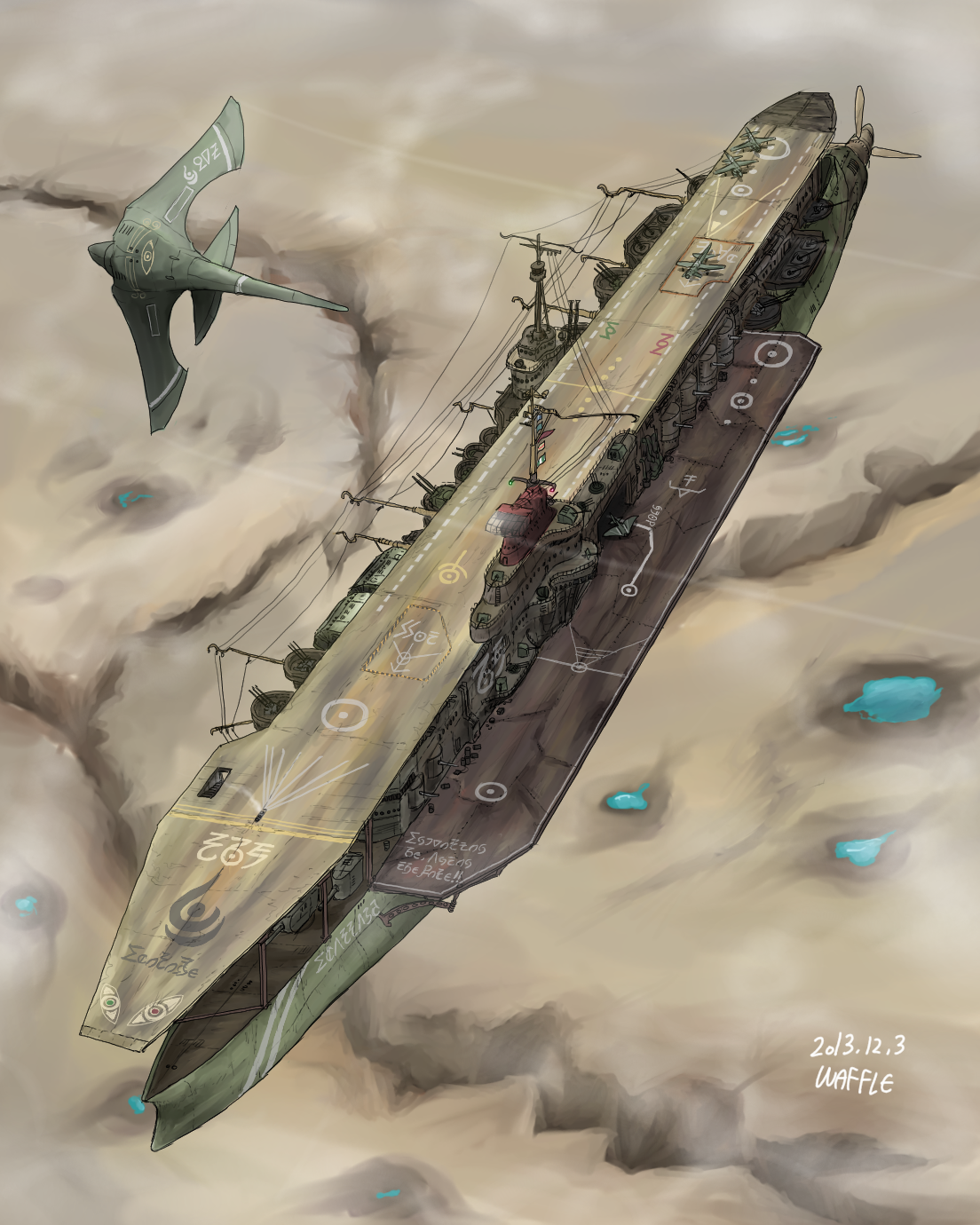 Arkilian Strategic Aircraft Carrier, Ecarlard by Waffle0708
