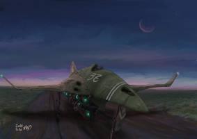 Warbird at dawn by AoiWaffle0608