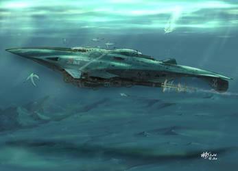AtoiCamui, United Islands' Submarine by AoiWaffle0608