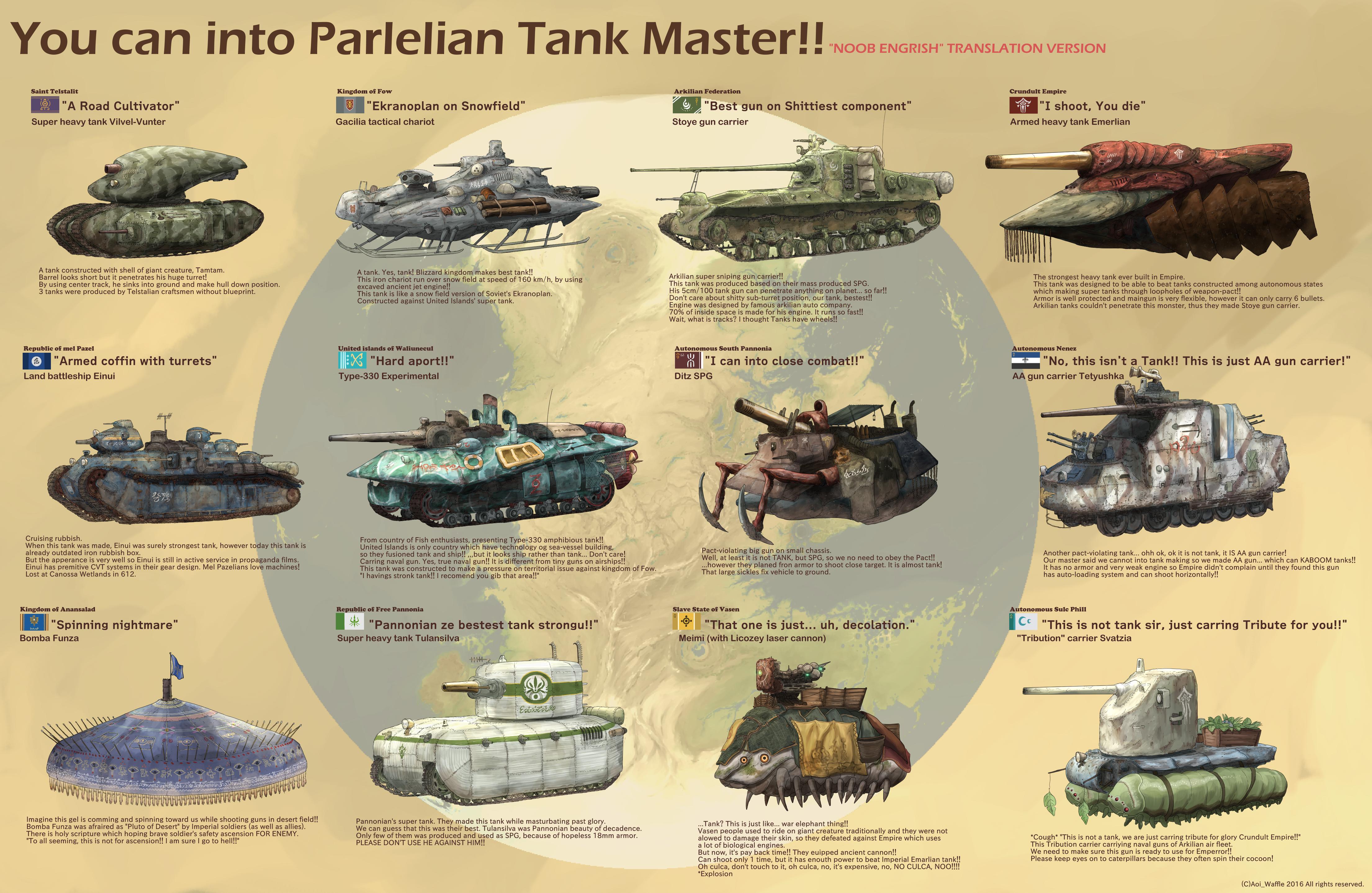 Parlelian Super Heavy Tanks!!! by AoiWaffle0608