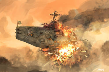 Arkilian stronk battleship never sinkuuu!!! by AoiWaffle0608