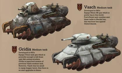 Fow Kingdom tanks by AoiWaffle0608
