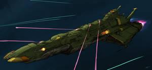 Galman Gamilas space battleship