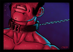 Kept on a tight leash by AllMaleArt