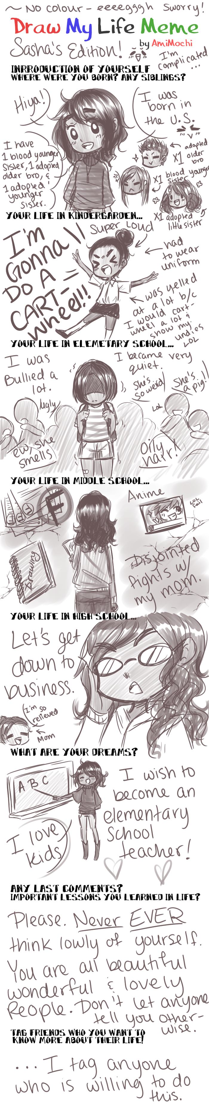 Draw My Life - SashaMinty Edition by Oriiole