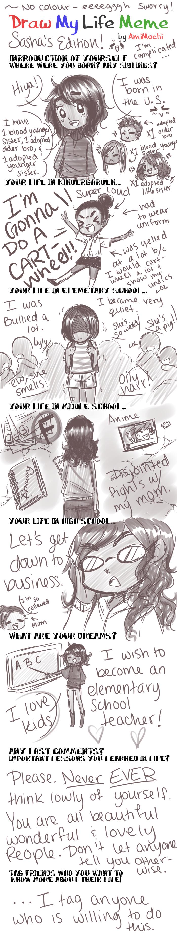 Draw My Life - SashaMinty Edition by jouori