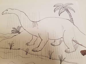 Dinosaur Drawing: Brontosaurus