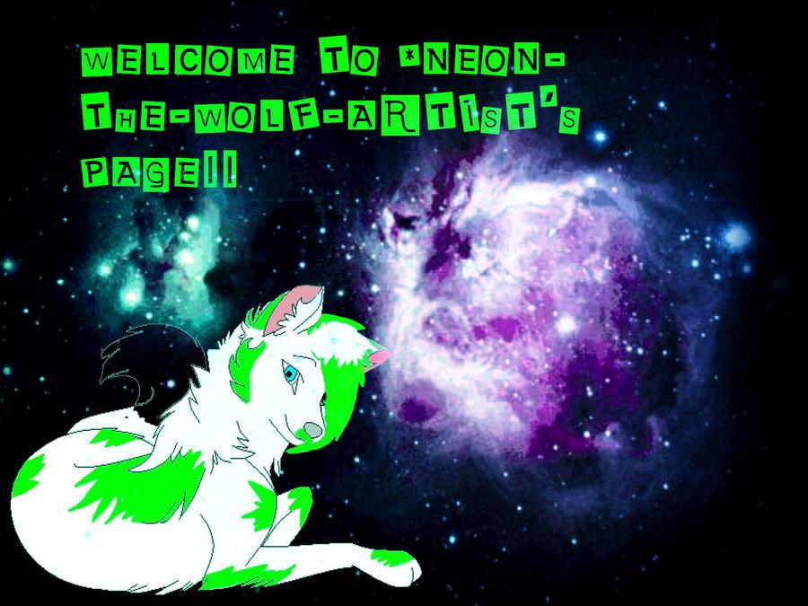 Neon-The-Wolf-Artist Gift! by SyoshoHiataki