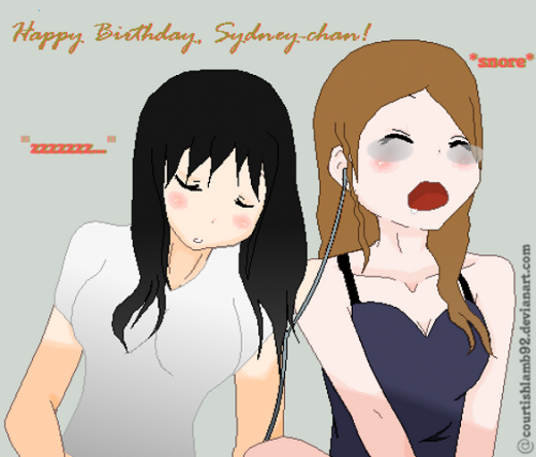 Happy Late Birthday Sydney-chan101 by COURTishLamb92