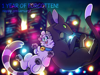 1 YEAR OF FORGOTTEN by cheesecakecauldron
