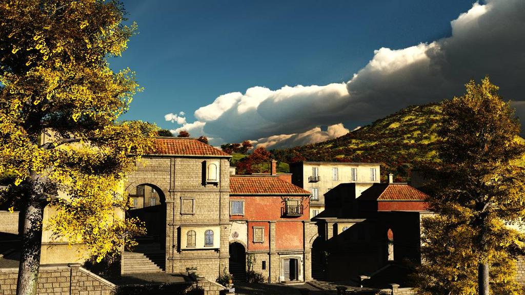 Mediterannean Village by TabascoJack