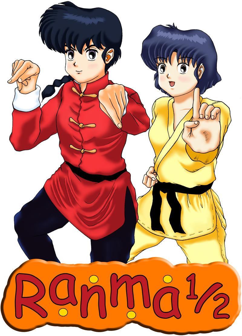Saotome Ranma and Tendo Akane