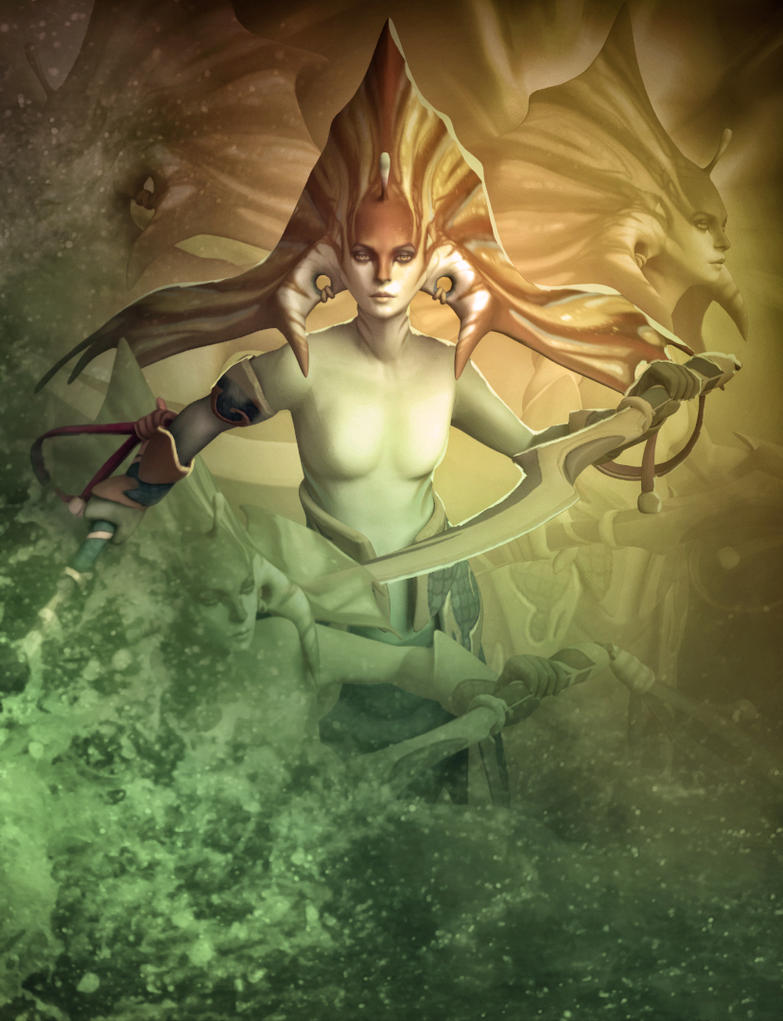 Dota 2 Siren by d-k0d3